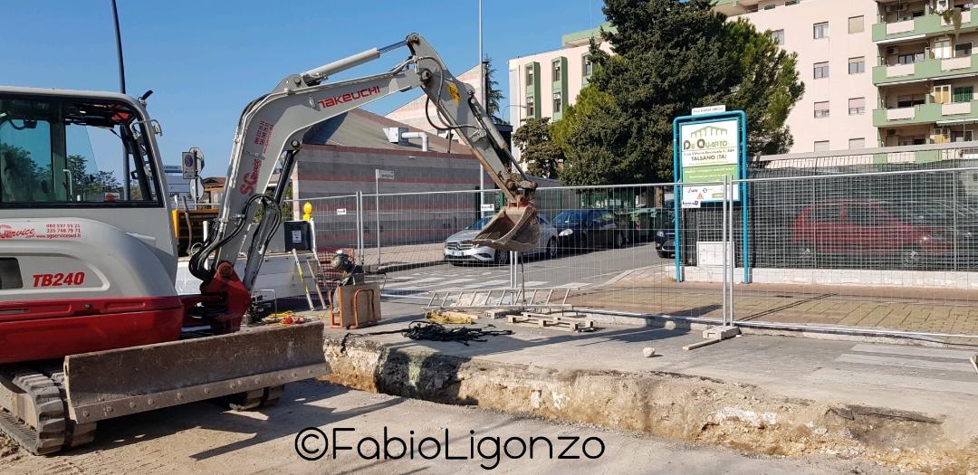 lavori Aqp viale M. Grecia Taranto